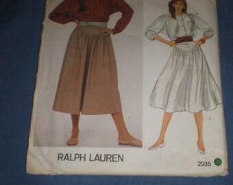 Ralph Lauren Vogue Skirt and blouse