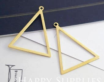 12Pcs High Quality Triangle Pendant Charms / Connector with One Hole (ZG339)
