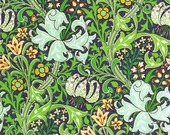antique French botanical wallpaper fleur de lys lilies flowers illustration digital download