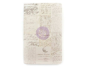 Old Letter Personal Size Prima Traveler's Journal Refill Notebook (599911)