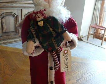 Jolly Santa on a Candlestick pattern