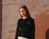 Sequined Cardigan / Black Sequined Cardigan / Sequined Sweater / Cardigan For Woman / Sweater For Woman / Glam