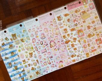 Rilakkuma sticker, Sanrio sticker, Bear sticker, San-X Japan stickers, Rilakkuma stickers, Sanrio Japan, Bear stickers, Teddy Bear