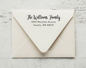 Custom Return Address Stamp, Self Inking Address Stamp, Family Stamp, Personalized Stamp, Housewarming Gift, Wedding Stamp - Style #106