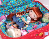 Travel Bag Sleeping Protective For Two Dolls Case Irrealdoll Lati Yellow Nikki Britt Pukifee Handcrafted Dolls Red Dots Blue Turquoise Green