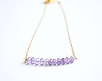 Amethyst Necklace, February Birthstone, February Birthday