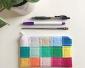 rainbow mosaic pouch