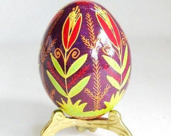 Tulips Pysanka Ukrainian Easter egg