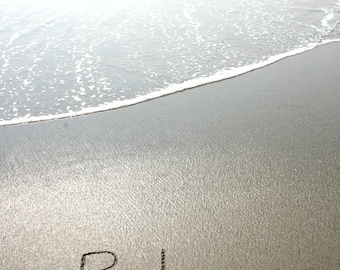 Relax written in the Sand Beach Writing  Fine Art Photo