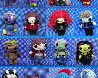 Guardians and Avengers full set amigurumi style PDF crochet patterns