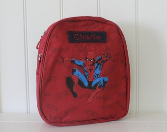 Spider-Man Hood Backpack With Monogram Pottery Barn (Preschool Size)