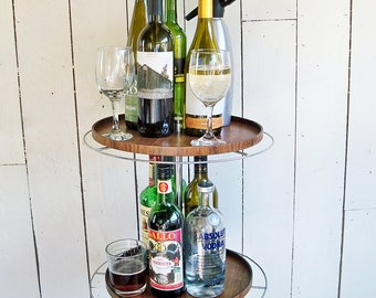 "Vintage Two-Tiered Round Retail Display Rack ""Ready for Work or Up-Cycle"""