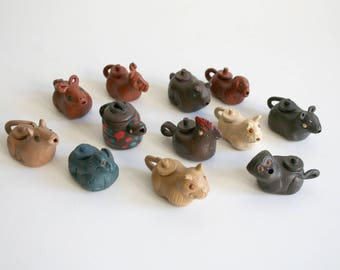 Chinese Zodiac Miniature Clay Teapots