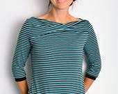 maritime jersey shirt petrol stripes by STADTKIND