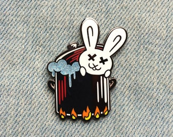 Bunny Boiler Enamel Pin (inspired by Fatal Attaction )