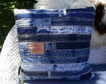 Classic denim jeans cushion cover
