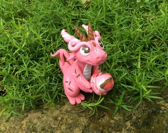 Polymer Clay Dragon with Neapolitan Ice Cream