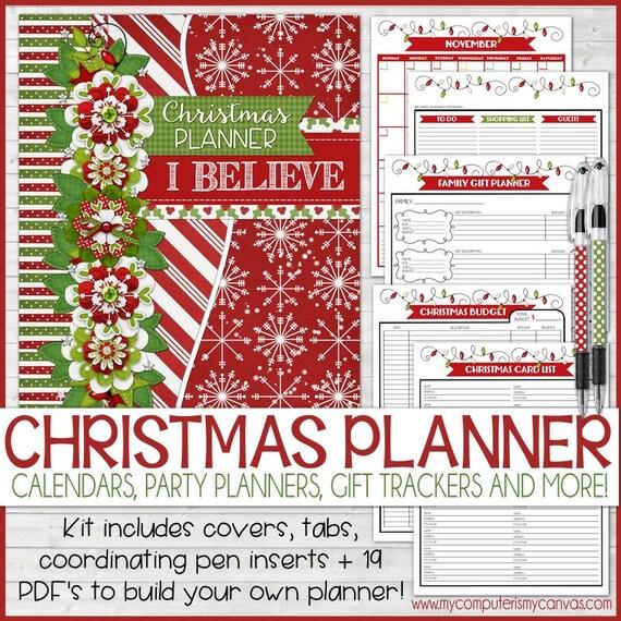 Christmas Planner Kit Holiday Planning Kit Gift Planner