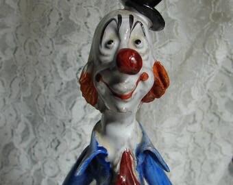 T P Ceramiche Clown Figurine, Poli Cesare Figurine, Clown Figurine