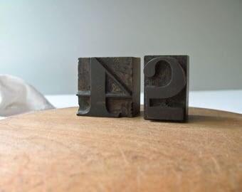 Vintage Letterpress Numbers 2 4 Printer Blocks 2 4 Date Stamp Calendar Birthday Number Stamp Wood Type Printing Supplies Graphics Home Decor