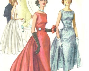 Dramatic Sleeveless Evening Gown with Removable Panels Bust 32 McCall's 3466