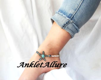 Ankle Bracelet Beach Anklet Starfish Anklet SOUTHWESTERN Anklets for Women GUARANTEED Choker Necklaces Avail