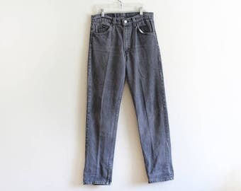 """Vintage Levis 501 / Made in the USA / Orange Tab/  Grey Jeans / 31"""" waist"""