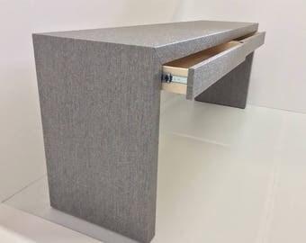 Custom Grasscloth Parson's Waterfall Desk/Table - Custom Built
