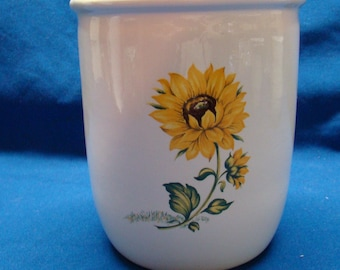 Sunflower kitchen utensil Holder, vase or kitchen caddy