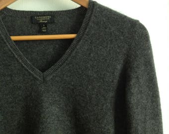 Charcoal Gray Cashmere Women's Sweater