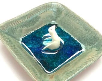 Swimming Duck Ring Dish