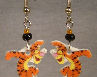 Tigger Dangle Earrings - Winnie the pooh Jewelry - Cartoon Nostalgia Jewellery