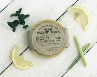 Bug Repellent Soap, Homemade Soap, Natural Bug Repellent, Beer Soap, Natural Soap, Camping Gift, Bug Soap, Lemongrass Soap, Soap Bar, Soap