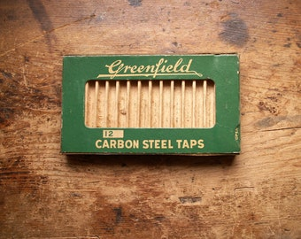 Vintage Greenfield Hardware Box for Carbon Steel Taps - Great Guy Gift!