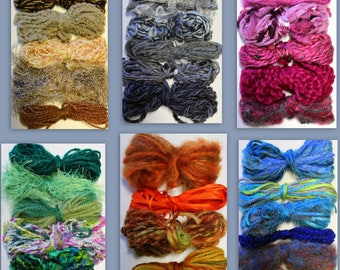 Rainbow threads - mixed  fibres & colours