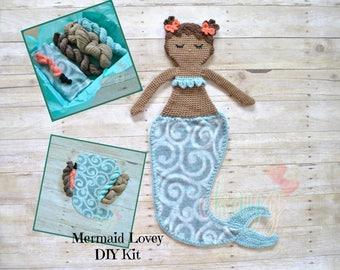 DIY Crochet Kit, Chastity Mermaid Lovey Doll