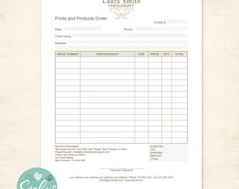 Blank Proforma Invoice Word Business Invoice  Etsy Brevard County Business Tax Receipt with Retail Receipt Invoice Template Photography Invoice Business Invoice Branding Receipt  Template For Photographers Marketing Receipt And Payment Format Word