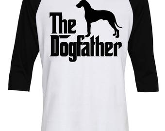 The Dogfather Great Dane Shirt - The Dog Father Great Dane Shirt - Dog Dad - Dog Lover - Birthday's Gift - Men Baseball T-Shirt - IZBSUB161