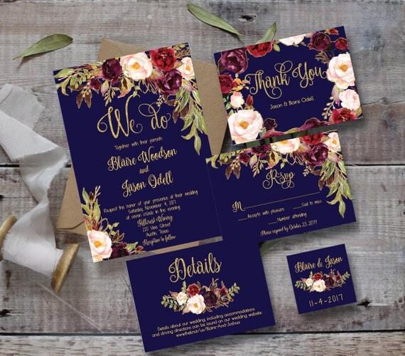 Wedding Invitation Template Printable / Editable