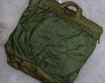Vintage Military Bag Green Army Surplus Tote 7VV