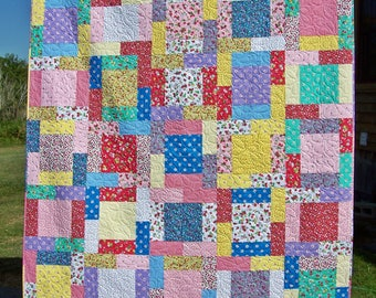 Twin Quilt, Patchwork Quilt, Handmade, 1930s, 30s, Quilts For Sale, Girl Quilt, Bed Quilt, Blanket, Busy Hands Quilts