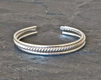Stacking Bracelet Set - Sterling Silver Bracelet Cuff - Stackable Bracelets - Gift for Her - Open Bangle Bracelet - Stacking Bangles - Cuffs