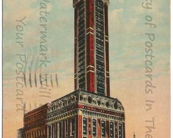 Singer Building and Tower New York City Vintage Postcard 1911 Over 100 years old