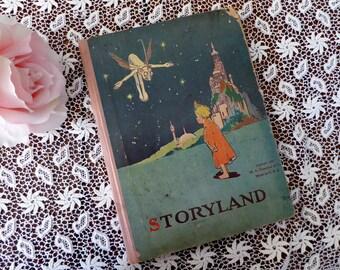 Antique Storyland M.A.Donohue & Co, Storyland 1922 Illustrated, Very Old Storyland Fairy Santa Mermaid Brownie Magic