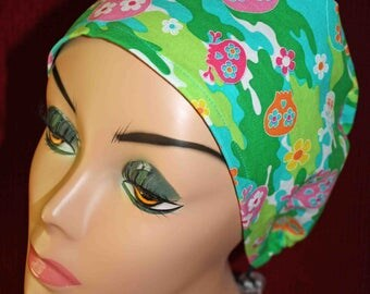 Girlie Camo Surgical Cap (biker/chemo/surgical)