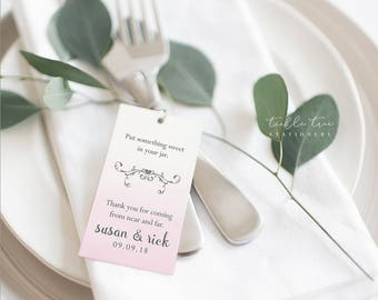 Favour Hang Tags - Pink Ombre