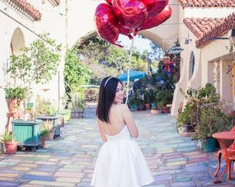 Off-white dress - Engagement Photo, Wedding Reception Dress, Bridal Shower Dress, Short Wedding Dress