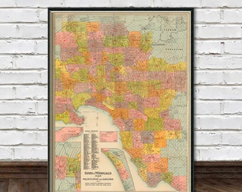 Map of Melbourne  -  Old city map print - Melbourne and Suburbs  archival print  - Up to 33 x 43.5""