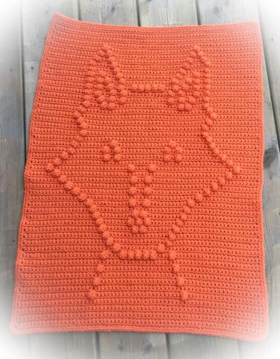 Crochet Fox Baby Blanket Pattern - Fox Baby Blanket Pattern - Blanket Pattern