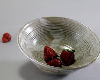 Large Ceramic Bowl - Serving Bowl - Fruit Bowl - Modern Serving Dish - Dark Stoneware
